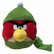 Angry birds winter red bird