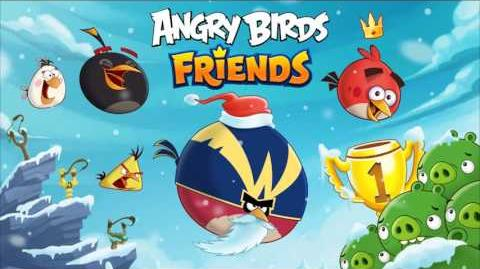 Angry Birds Friends music - Christmas Theme 2016 (Hogiday tournament)