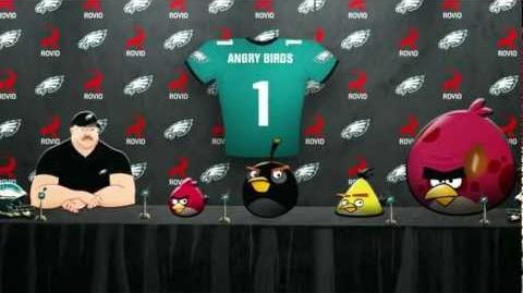 Angry Birds join Philadelphia Eagles