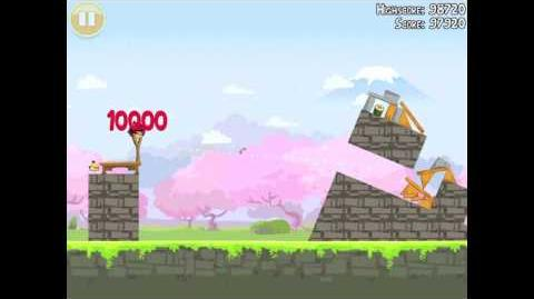 Angry Birds Seasons Cherry Blossom 1-1 Walkthrough 2012 3 Star