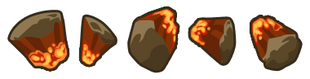 Обломки огненного меторита