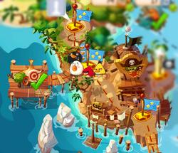 Пиратский берег на карте