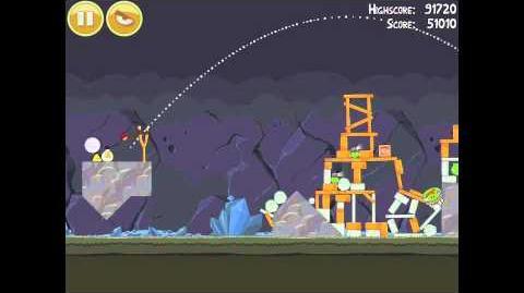 Angry Birds 16-14 Mine & Dine 3 Star Walkthrough
