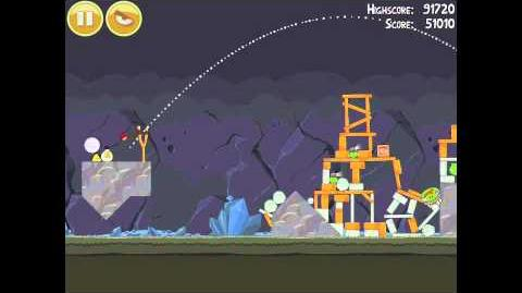 Angry Birds 16-14 Mine & Dine 3 Star Walkthrough