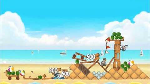 Official Angry Birds Rio Walkthrough Beach Volley 5-7