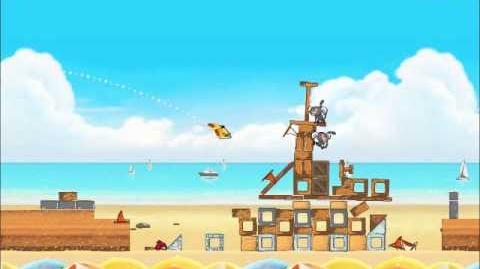 Official Angry Birds Rio Walkthrough Beach Volley 5-5