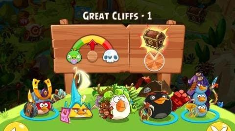 Angry Birds Epic Great Cliffs Level 1 Walkthrough