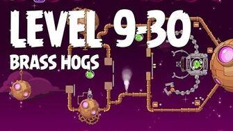 Angry Birds Space Brass Hogs 9-30 Walkthrough 3 Star