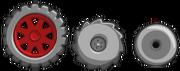 Три вида колёс