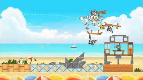 Official Angry Birds Rio Walkthrough Beach Volley 6-1