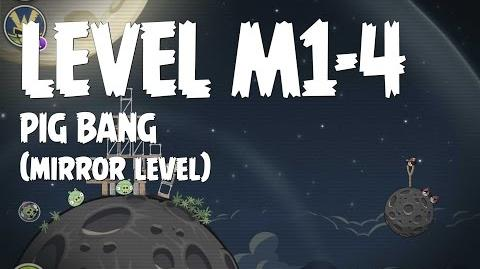 Angry Birds Space Pig Bang Level M1-4 Mirror World Walkthrough 3 Star