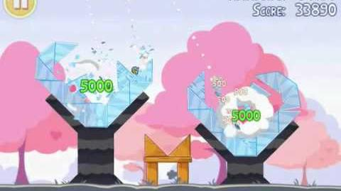 Angry Birds Seasons 1-1- Hogs and Kisses Valentines 3 stars level 1-1 walkthrough gameplay tutorial