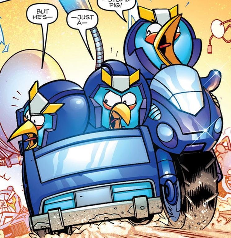 Angry Birds Transformers Issue 3 Bluestreaks Vehicle Mode
