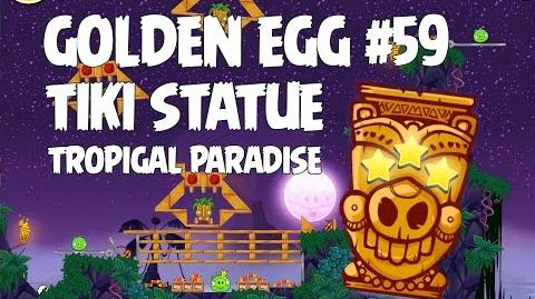 Angry Birds Seasons Tropigal Paradise Golden Egg 59 Walkthrough