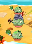 Рыцарь зомби на уровне