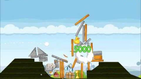 Official Angry Birds Walkthrough Mighty Hoax 4-11