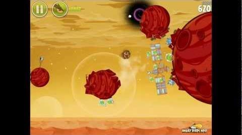 Angry Birds Space Golden Rover 3 (E-R3) Opportunity Eggsteroid Walkthrough