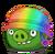 Комихэл Капрал в радужном шлеме