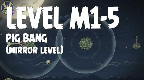 Angry Birds Space Pig Bang Level M1-5 Mirror World Walkthrough 3 Star