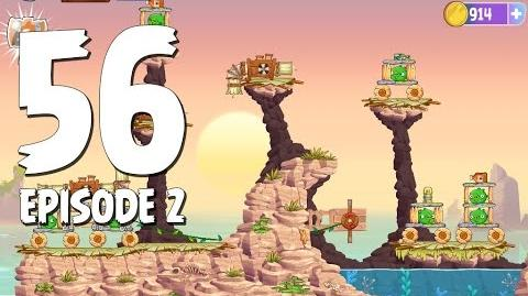 Angry Birds Stella Level 56 Episode 2 Beach Day Walkthrough