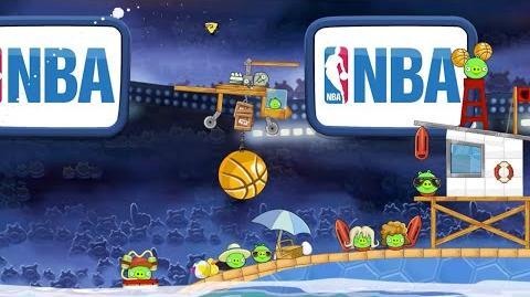 NBA Ham Dunk in Angry Birds Seasons! - Gameplay Trailer