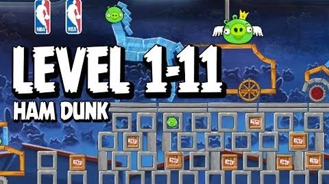 Angry Birds Seasons Ham Dunk 1-11 Walkthrough 3 Star