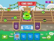 Экран режима Cake Race