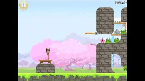 Angry Birds Seasons Cherry Blossom Golden Egg 33 Walkthrough 2012
