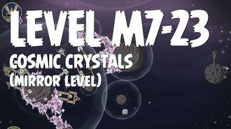 Angry Birds Space Cosmic Crystals Level M7-23 Mirror World Walkthrough 3 Star