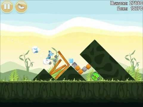 Official Angry Birds Walkthrough Poached Eggs 2-9