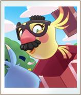 Усатая птица