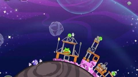 Angry Birds Space Cosmic Crystals 7-14 Walkthrough 3 Star
