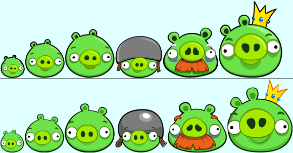 Image Size Chart Birds And Pigs Png: Image - Bad Piggies Designs.png