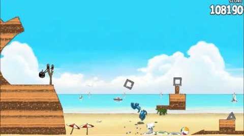Official Angry Birds Rio Walkthrough Beach Volley 6-3