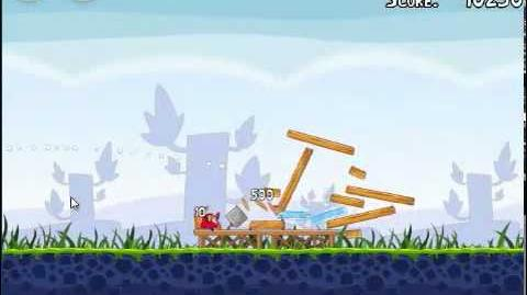 Angry Birds 1-1 Poached eggs 1-1 3 stars walkthrough Theme 1 level 1-1 Gameplay Tutorial