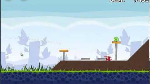 Angry Birds 1-2 Poached eggs 1-2 3 stars walkthrough Theme 1 level 1-2 Gameplay Tutorial