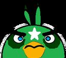 Space Green Bomb Bird