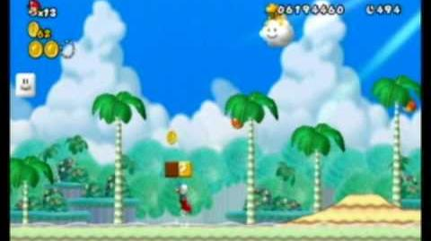New Super Mario Bros Wii NSMB All The Yoshi Levels