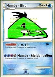 Number bird card