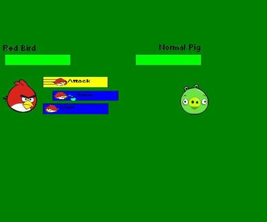 Angry Birds Adventure,battle screen