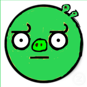 Awesome pig disapproval face sticker