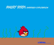 Loading Screen of Angry birds Undersea Exploration