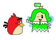 Red conoce la Princesa Sprixie (Hada) Verde (Angry Birds y SM3DW)