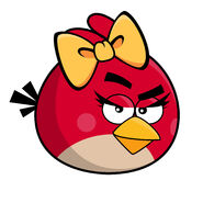 Angry bird red girl
