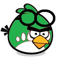 Green Goggle Bird