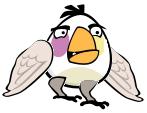 Winged Bird Cropse