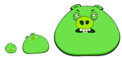 Angry Birds Pig Comparison