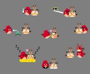 Red X Dahlia Pixel Doodles