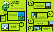 Cooking with Chef Pig- Chocolate Eggs… with words…