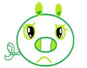 Angry Girl Pig